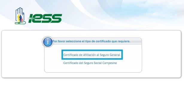 certificado de afiliacion Seguro General