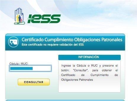 consultar certificado de no adeudar al IESS