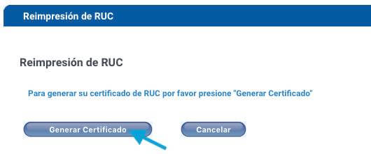 Certificado de RUC SRI
