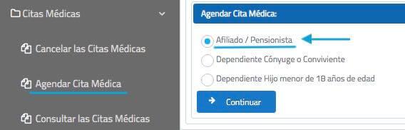 Agendar cita médica IESS afiliado
